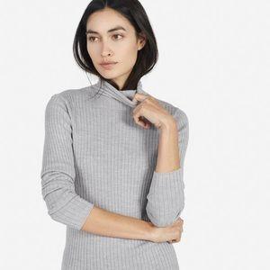 Everlane | Women's Ribbed Wool Turtleneck | Grey